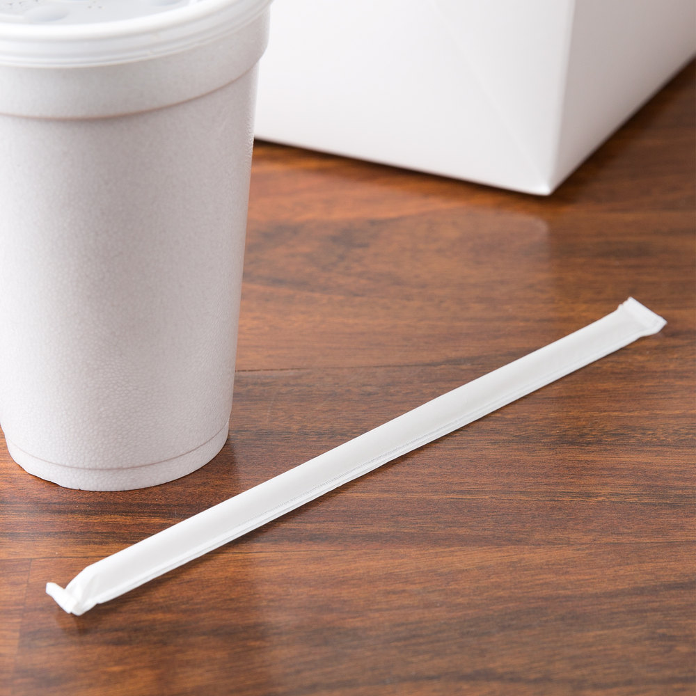 Plastic straws and the paper wrappings are not ecofriendly.