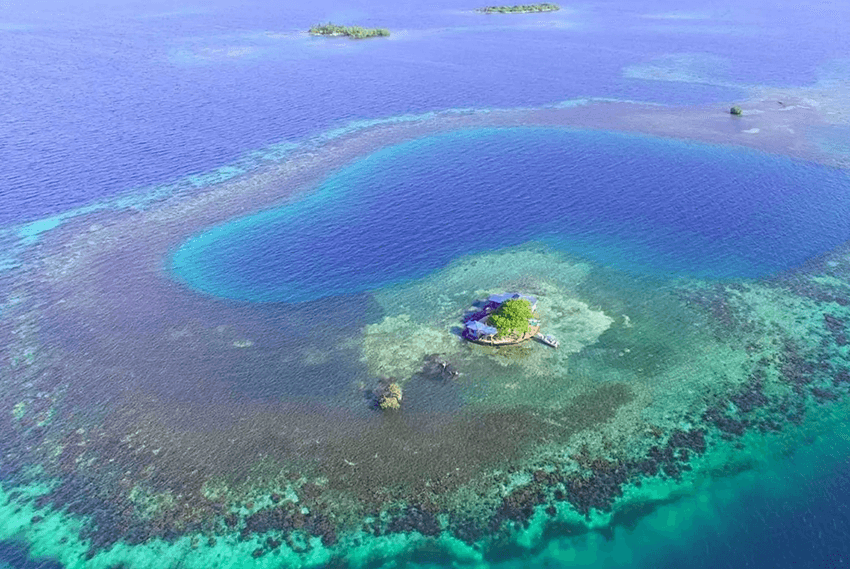 Bird island atoll and its magical surroundings.