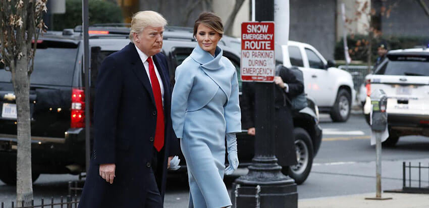 Melania wears Ralph Lauren in the inauguration day on January 20th.