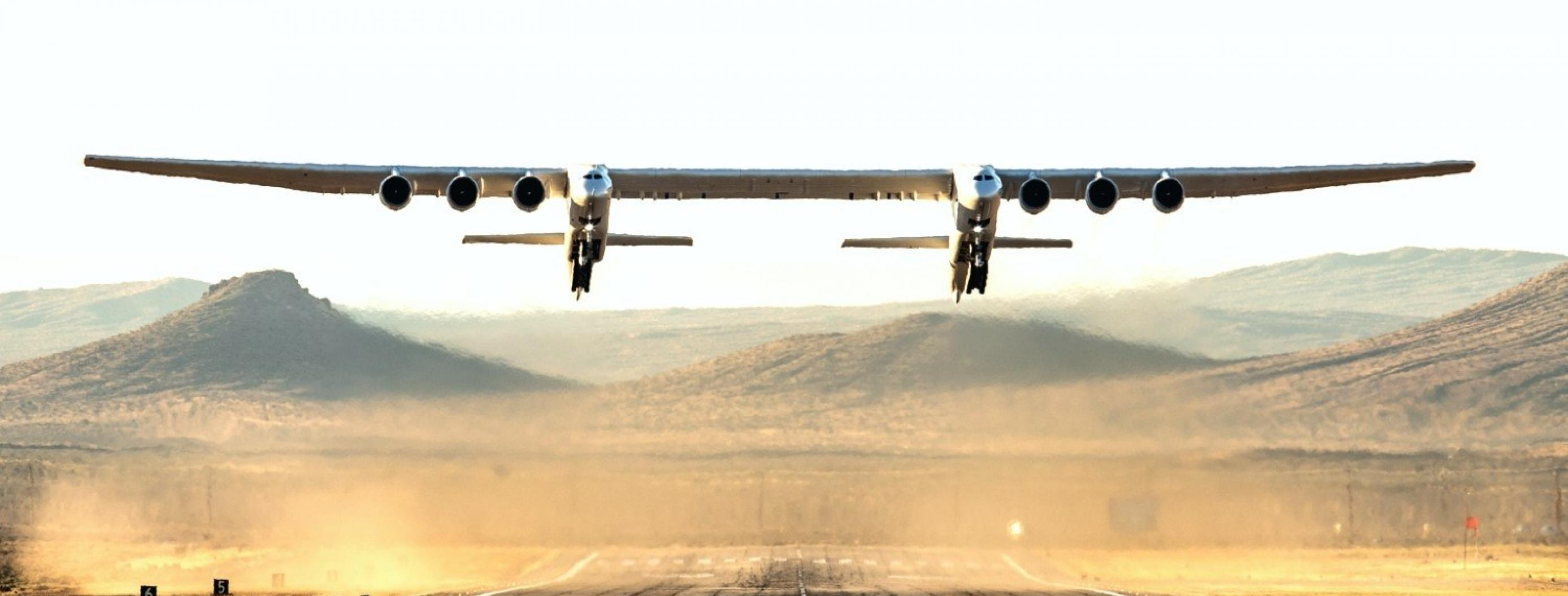 World's Biggest Airplane Built by Stratolaunch Makes Its First Flight