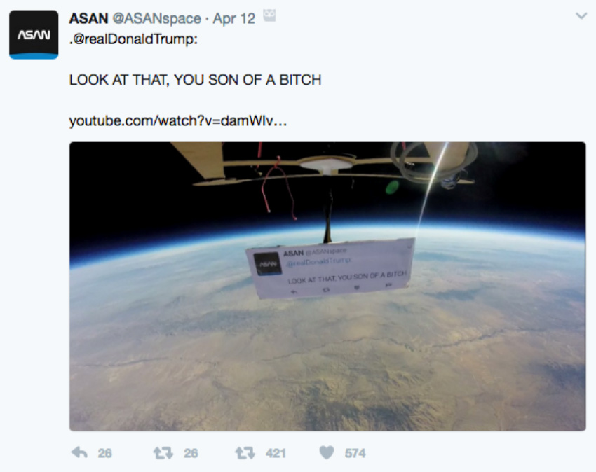 First Protest In Space