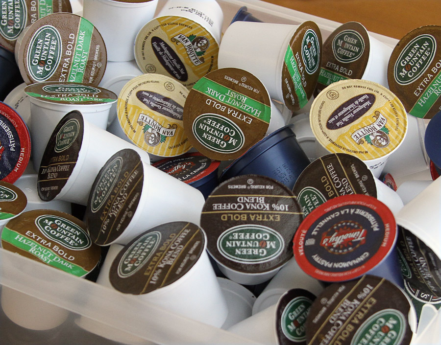 K-cups are not recycleable.