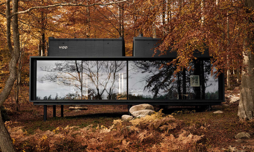 The Vipp shelter is solitary and definitely the dream vacation for an introvert.
