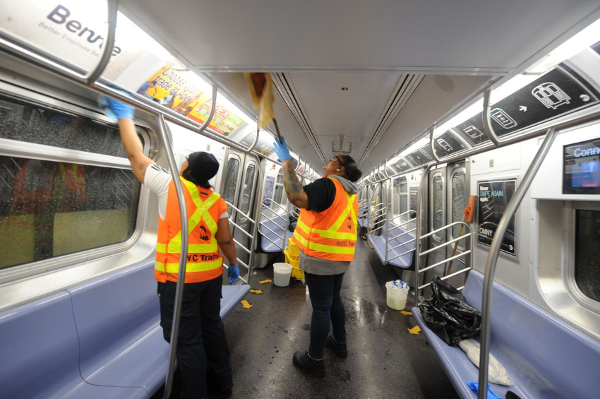 The NY subway system will be disinfected every 72 hours. Source: NY Daily News
